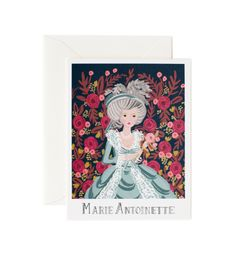 Rifle Paper Co. - Marie Antoinette - Available As A Single Folded Card Or A Boxed Set Of 8