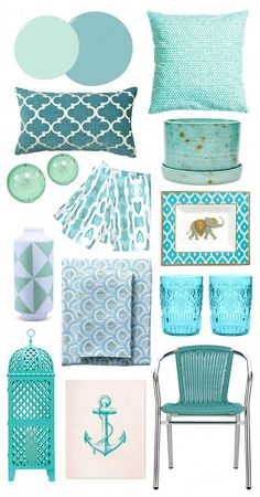 Aqua home accessories Bedroom Decor, Decor, Teal Kitchen Decor, Beach House Decor, Home Deco, Home Accessories, Living Room Decor, Home Decor, Teal Decor