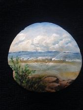 HAND PAINTED COLLECTABLE HAND PICKED WASHED BLEACHED SAND DOLLAR Beach Scene Painting, Seashell Painting, Seashell Art, Seashell Crafts, Beach Crafts, Pebble Painting, Pebble Art, Shells And Sand, Sea Shells