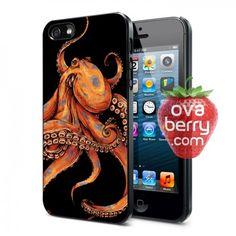 Orange Octopus iPhone and Samsung Galaxy Phone Case