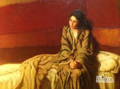 """Detail of Henry Ossawa Tanner's """"The Annunciation"""""""