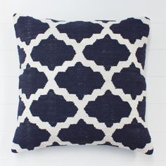 Geometric Indigo Cushion