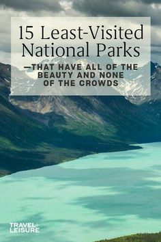 15 Least-visited National Parks Have All the Beauty, and None of the Crowds - us national park vacation ideas travel tips - Places To See, Places To Travel, Travel Destinations, Travel Diys, Vacation Places In Usa, Dream Vacation Spots, Budget Travel, Travel Goals, Travel Usa
