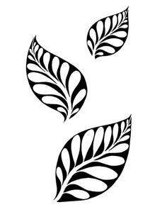 Ornate Leaf Set We think that tattooing can be quite a method that has been used since enough time of … Leaf Stencil, Stencil Art, Stencil Patterns, Stencil Designs, Custom Stencils, Deco Cuir, Fabric Paint Designs, Moroccan Stencil, Leaf Template