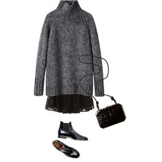 Untitled #540 by feryfery on Polyvore featuring Vanessa Bruno Athé, Chloé and Fendi
