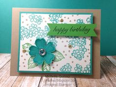 Shell Stamps: Birthday wishes Made with Stampin' Up! Birthday Blossoms and Number of Years.  Please see my blog for details:http://shellsq.blogspot.com/2016/04/birthday-wishes.html
