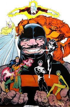 Alpha Flight by John Byrne - I own this poster! Currently hanging on my wall over my comic collection :)