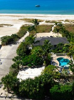Beachfront Bliss Ariel View with Guest Cottage bottom left