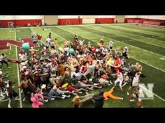 Halem Shake by Husker Football Team... First Day of Spring Practice 2013