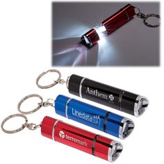 PL-1254 Tri-Sided 1 LED Torch/Key Light. Mini aluminum flashlight with split key ring. Ultra-bright LED bulb. Metal push button on/off switch on end. Slide light end out to create a mini lantern.  #promotionalproducts #corporategifts #brandidentity #employeerecognition #promoprodsstl #logo #yourlogohere  #tradeshows  #giveaways #marketing #advertising #keychain #keytag #keylight #flashlight #lantern