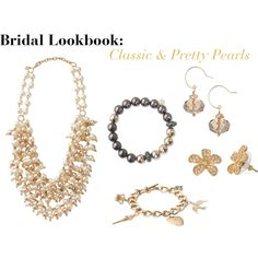 """Bridesmaid Lookbook: Classic & Pretty Pearls"" by luckyandlovely on Polyvore  http://www.stelladot.com/denikaclay"