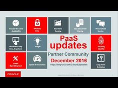 PaaS & Middleware Partner YouTube Update December 2016