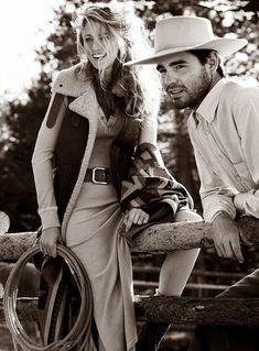 Blake Lively features Jackson Hole style in Vogue. Hello, Wyoming! #cowboy