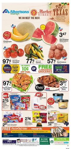 Albertsons Weekly Ad July 12 – 18, 2017. View the Latest Flyer and Weekly Circular ad for Albertsons Here. Likewise you can find the digital coupons, grocery savings, offers, This Week Albertsons Ad sale prices, weekly specials and the latest deals from Albertsons. Here are Albertsons ad this week 7/12/2017 – 7/18/2017: