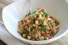 Lentil and Quinoa Pilaf with Cauliflower and Marcona Almonds | WeeklyGreens.com