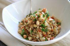 Lentil and Quinoa Pilaf with Cauliflower and Marcona Almonds | WeeklyGreens.com