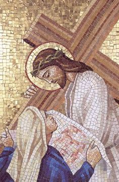 Venetian Mosaic Stations of the Cross Christian Images, Christian Art, Religious Icons, Religious Art, Pictures Of Jesus Christ, Sea Glass Crafts, Cross Art, Jesus Art, Christian Symbols