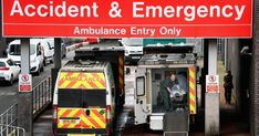 Ambulances sit outside the accident and emergency department at the Glasgow Royal hospital Lund University, Emergency Ambulance, House Arrest, Emergency Department, Urgent Care, Internal Medicine, Early Intervention, First Aid Kit