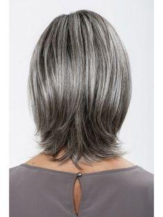 Lace Front Grey Medium Straight Synthetic Hair Wig Medium Straight Synthetic Hair Wig In Black Lace Short Bob Hairstyles, Wig Hairstyles, Medium Hair Styles, Short Hair Styles, Grey Bob, Shampoo For Gray Hair, Cheap Human Hair Wigs, Gray Hair Highlights, Transition To Gray Hair
