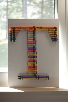 Crayon letter for the alphabet wall-CUTE-LB, who wants to make this for me?