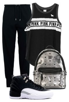 """""""Playoff 12s"""" by zoelh178 ❤ liked on Polyvore featuring NIKE, Victoria's Secret and MCM"""