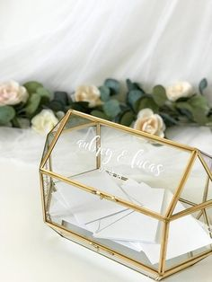 Our Best Selling Card Boxes are Currently Sold Out and we have Started a WAIT LIST. To reserve one for yourself, simply purchase the box and one will be shipped out as soon as we have them back in Stock. We will be restocking and sending them out in the mail by May 15. ***Medium Personalized Romantic Centerpieces, Wedding Table Centerpieces, Flower Centerpieces, Flower Decorations, Wedding Decorations, Centerpiece Ideas, Quinceanera Centerpieces, Graduation Decorations, Wedding Details Card
