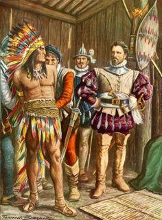 Ferdinando Cortes imprisoning Montezuma http://www.pinterest.com/jmanuel0402/am%C3%A9rica-espa%C3%B1ola/