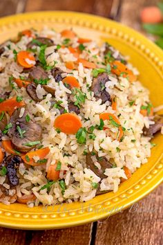 A deluxe rice pilaf recipe that includes veggies