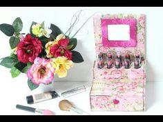Porta Maquiagem feito com Caixa de Leite - YouTube