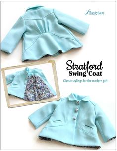 "Stratford Swing Coat 18"" Doll Clothes"