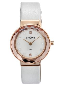 Price:$75.63 #watches Skagen 456SRLW, Stainless steel case, Synthetic Leather strap, Mother of Pearl dial, Quartz movement, Scratch-resistant mineral, Water resistant up to 3 ATM - 30 meters - 100 feet
