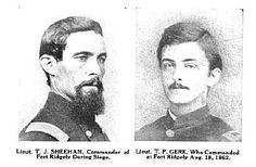 Portrait picture of Lt. Sheehan on the left, and Lt. Gere on the right.