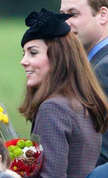 Duchess of Cambridge, December 27, 2015 in Silvia Fletcher for Lock & Co.   Royal Hats
