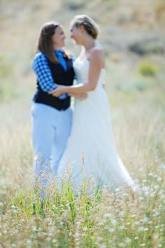 Jennifer + Kelly's rustic Idaho country wedding | Cheatwood Photography | Read more on equallywed.com, the world's leading gay and lesbian wedding magazine