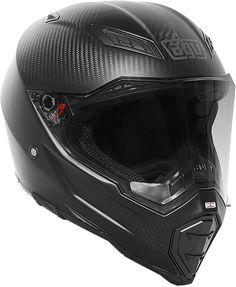 AGV-AX-8-EVO-Naked-Carbon-Fiber-Full-Face-Powersports-Motorcycle-Helmet