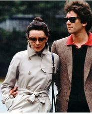 Audrey Hepburn beautiful in Burberry, 1983 Kyoto with her son Sean Ferrer.