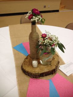 """Rustic table decorations  """"His Revolutionary Love"""" teen event Brazos Christian…"""