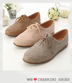 ♥♥ Women's Oxford Lace Up Flats Shoes 3 Colors Graceful Cute Shoes, Me Too Shoes, Oxford Shoes Outfit, Oxford Boots, Flat Lace Up Shoes, Shoe Boots, Shoes Sandals, Suede Oxfords, Loafers