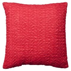 """Pillow for Guest Bed - says """"red"""" but really a pretty hot coral"""