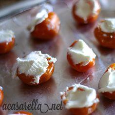 'A Casarella: Goat Cheese Stuffed Peppadews with Balsamic Glaze