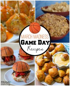 Roundup of March Madness Food Ideas on Frugal Coupon Living – Slam Dunk Bites for Your Entire Team. These ideas would also be great for a Basketball Party. Recipes Appetizers And Snacks, Tailgating Recipes, Tailgate Food, Appetizers For Party, Party Snacks, Desserts, Sports Food, Man Food, March Madness