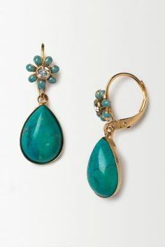 Aqua Blossom Drops from Anthropologie
