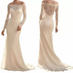 vestido renda noiva festa simples decote ombro manga vrl162