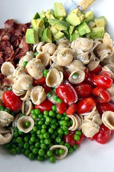 Summer Avocado Pasta Salad for Memorial Day or Father's Day | found at ReluctantEntertai...