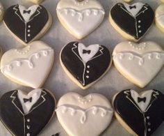 Wedding Cookies by KaysBakery on Etsy, $25.00