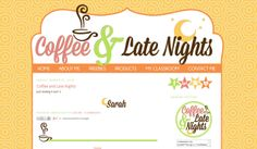 Coffee & Late Nights | blog design
