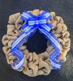 JEWISH BURLAP BOW Wreath Christmas Wreath Jewish Decor Jewish Wreath Hanukkah Decor Hanukkah Wreath Religious Christmas Burlap Wreath Xmas on Etsy, $39.99