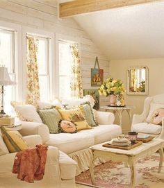 cottage meets a little shabby chic