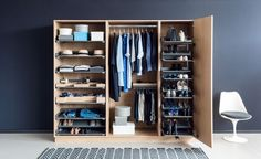 Dress room plan wardrobes 38 Ideas for 2020 Living Room Units, Living Area, Kitchen Larder, Pull Out Shelves, Contemporary Stairs, Room Planning, Dressing Room, Wardrobes, Storage Solutions
