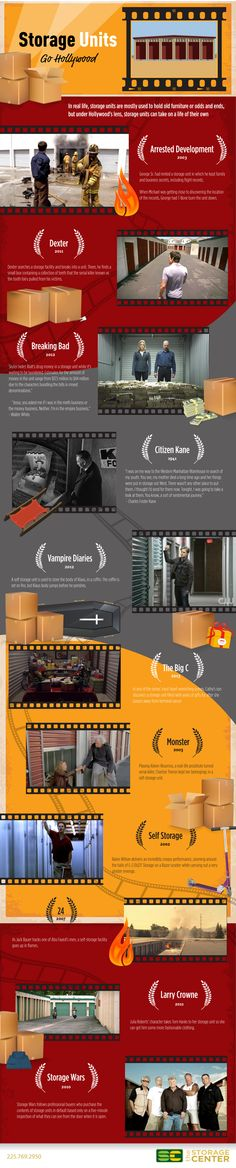 Self storage units in Hollywood movies and shows
